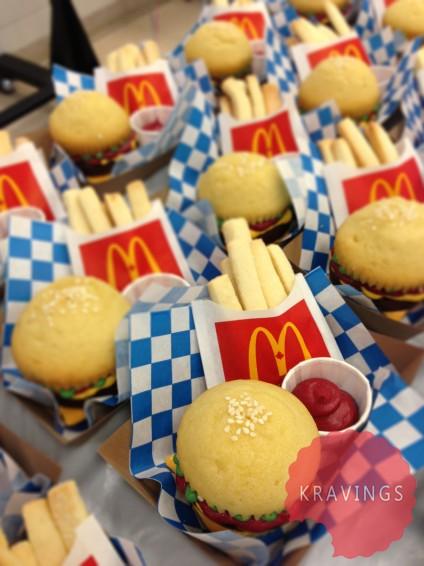 Kravings - Burger Cupcakes